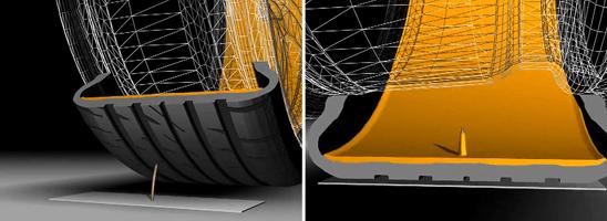 pneu continental contiseal schéma de la technologie anti crevaison