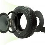 montage haut parleur pneu