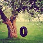 pneu suspendu à un arbre