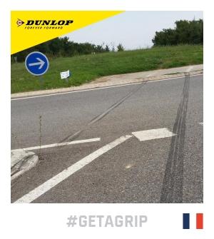 concours-dunlop-getagrip-traces pneus glissade