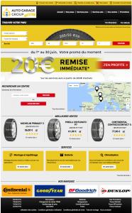 Vente de pneus et services en ligne - Demo1