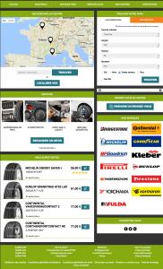 Vente de pneus et services en ligne - Demo3